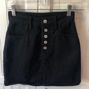 Black Denim Skirt (J. Galt / Brandy Melville)